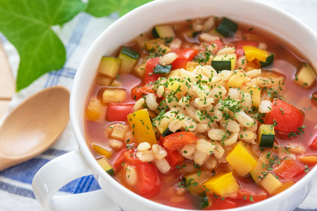 もち麦 スープ