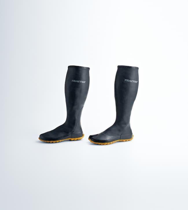 農作業の負担を軽減する農業用長靴「トラクターシューズロング」