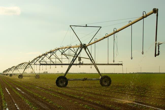 フロリダ州の農場  最新技術による灌漑システム