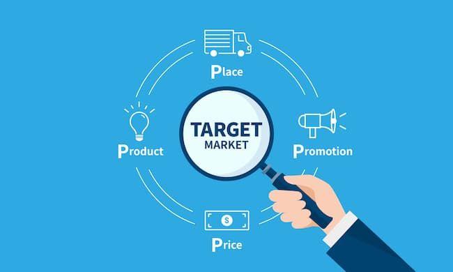 マーケティングの4P イメージ図