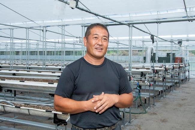 代表の保田健一さん。2021年にオープン予定の乳酸菌イチゴ狩り用施設にて