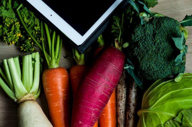 個性ある野菜をホームページに