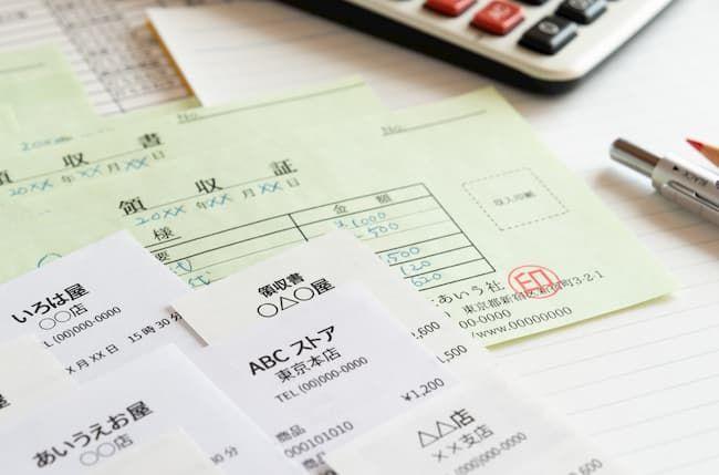 確定申告のための領収書やレシートの整理