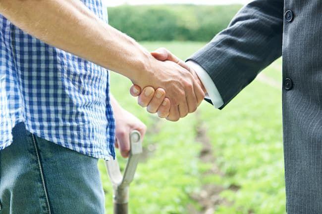 農家と企業の提携 イメージ