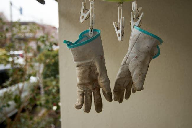 こまめに洗って干すのが農作業用手袋を長持ちさせる秘訣