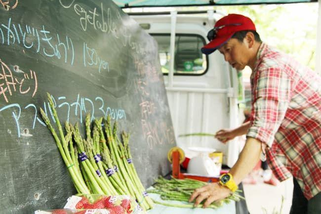 農家自らが販売する流通ルートの代表格「ファーマーズマーケット」