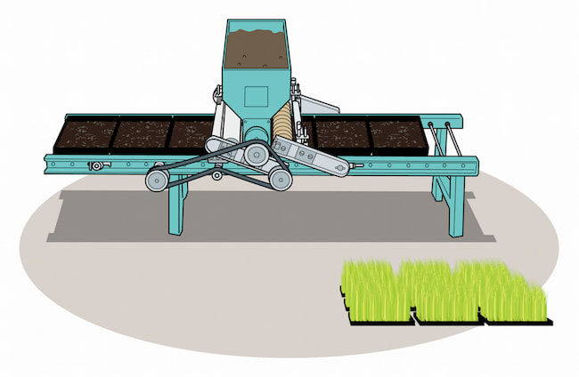 水稲播種機