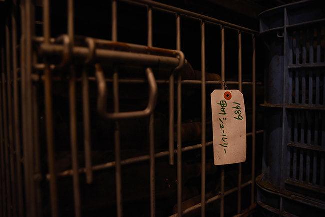奥野田ワイナリーで保管されている最も古いワイン