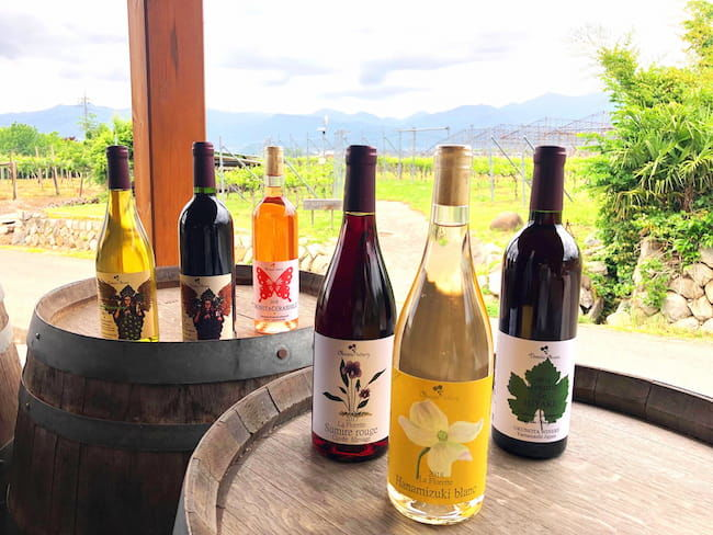 奥野田ワイナリーのワイン。ラベルも美しい