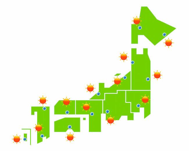 日本の夏の天気