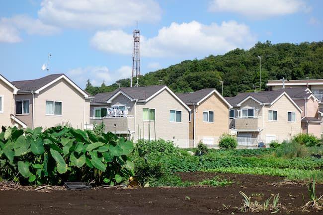 住宅地と隣接している農地