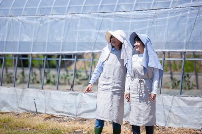農業女子の母娘