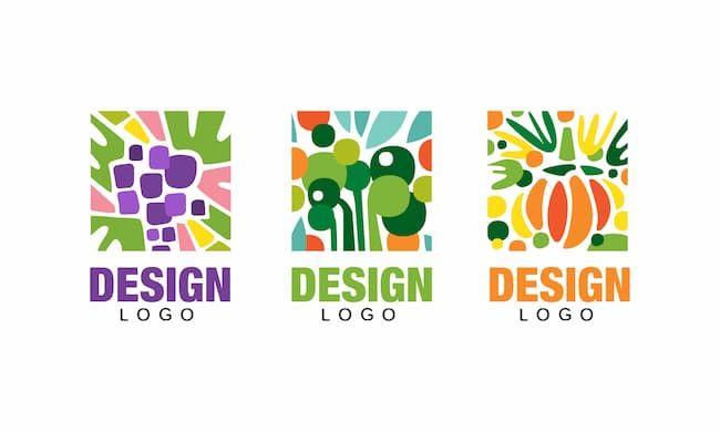 作物をイメージしたセットロゴの例