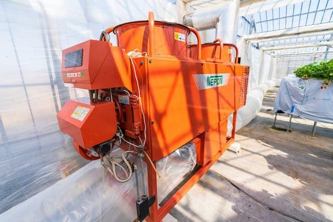 施設栽培の加温設備