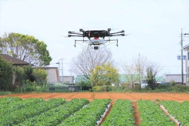 ヤマハ発動機「YMR-08AP」のジャガイモ(馬鈴薯)のほ場での農薬散布の実証実験