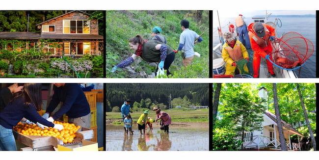 農泊:都市部の消費者に農山漁村に滞在してもらい、地域が連携して、その土地ならではの多様な体験プログラム提供する