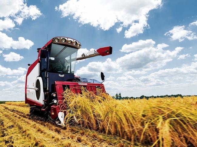 収量コンバインの例:ヤンマーアグリ株式会社「収穫量マッピング仕様コン バインYH6115」