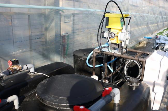 養液土耕栽培の液肥タンク