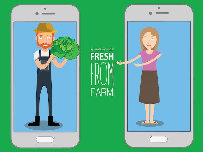 農家は、SNSを通じて消費者に直接情報を届けられる
