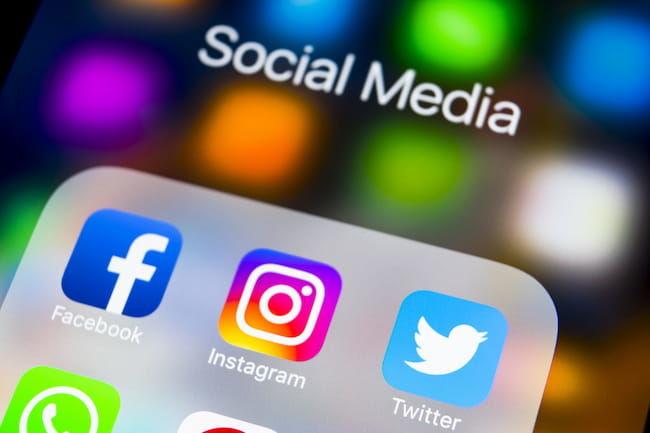 代表的なSNS 「Facebook」「Instagram」「Twitter」