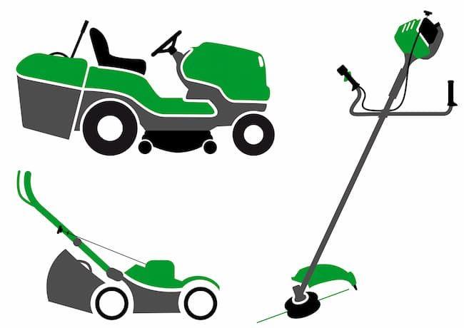乗用型草刈り機、手押し式草刈り機、携行タイプ草刈り機