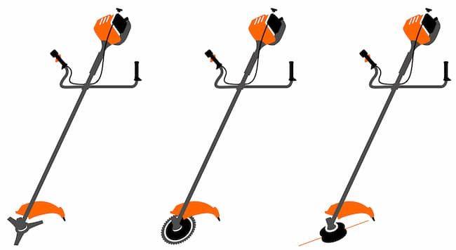 草刈り機(刈払い機)の刃の種類。金属刃、チップソー、ナイロンカッター
