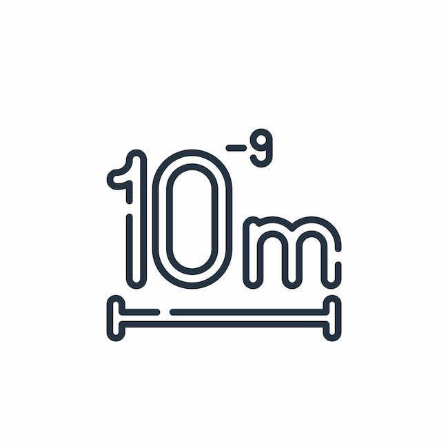 ナノ(nano:n )=10億分の1=10のマイナス9乗