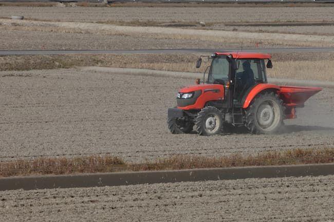 肥料の機械散布