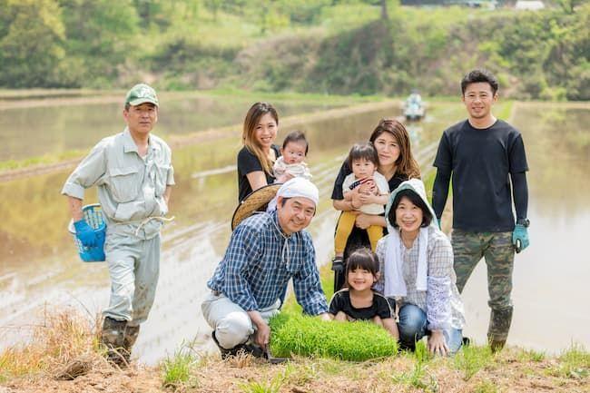 日本の農業を支える大家族